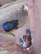 Rock Climbing Photo: Top down.