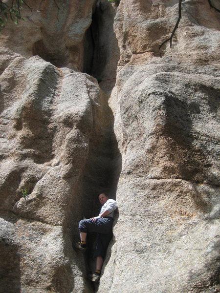 Rock Climbing Photo: Beginning runnel of 1st pitch.