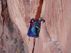 Rock Climbing Photo: Brian belaying pitch 6