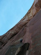 Rock Climbing Photo: Burt leading pitch 4