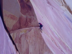 Rock Climbing Photo: Brian pulling the roof