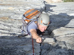 Rock Climbing Photo: Brett nearing the first belay