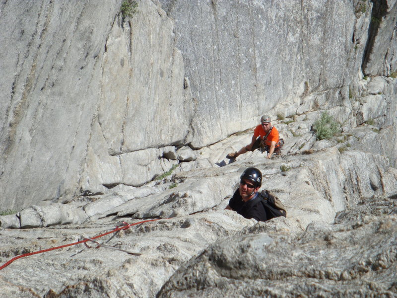 Rock Climbing Photo: Second pitch of Corrugation corner