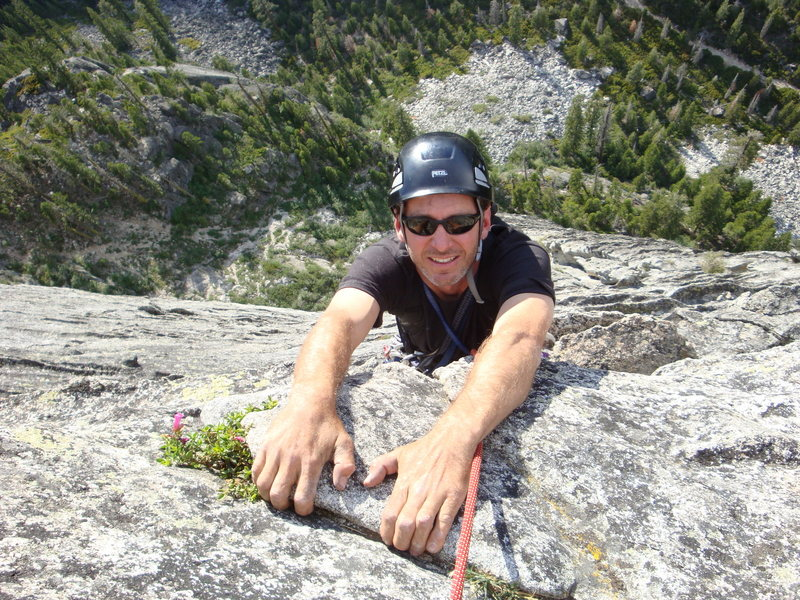Rock Climbing Photo: Anthony topping out on Corrugation corner