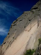 Rock Climbing Photo: Dave hiking the excellent, 5.9, first pitch of Rid...