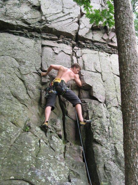 Rock Climbing Photo: Starting up