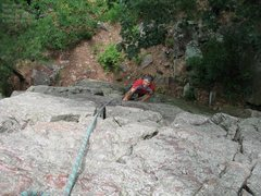 """Rock Climbing Photo: Burt takes a lap on """"North Country Crack.&quo..."""