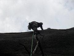 Rock Climbing Photo: Derek Nabozny and Eric Albers (barely) starting of...