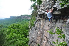 Rock Climbing Photo: Dave Morgan at the Ape Call roof.