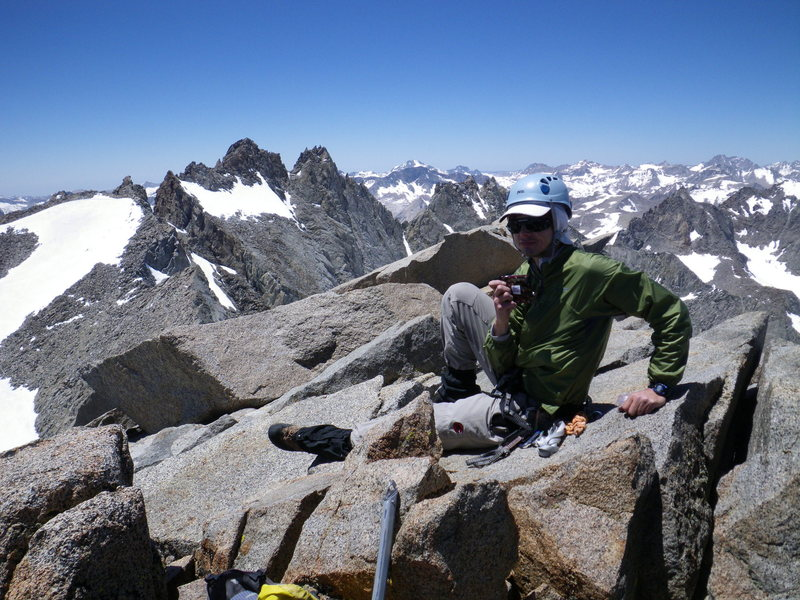 Rock Climbing Photo: Me atop Mount Sill (14153') after climbing the Swi...