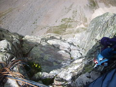 Rock Climbing Photo: Top of the fourth pitch.  Though there look to be ...