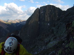 Rock Climbing Photo: At the top of the face looking east to the west fa...