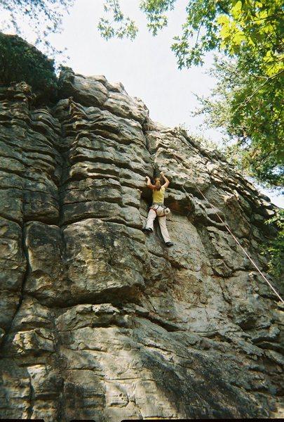 Climbing at Sand Rock in Alabama
