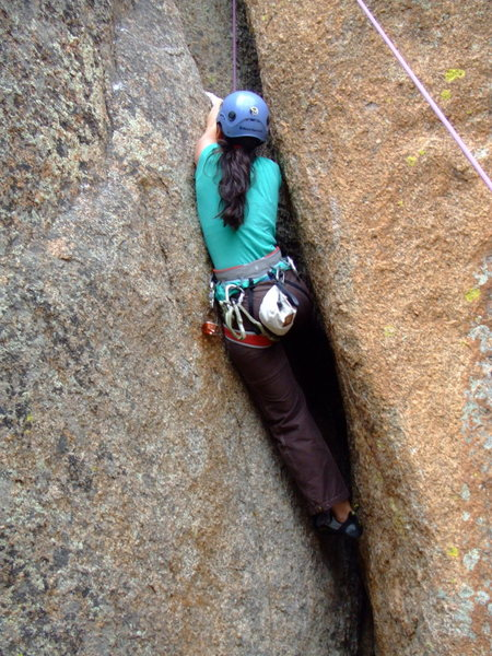 Rock Climbing Photo: Crack climbing in Vedauwoo, WY