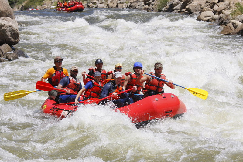 Rock Climbing Photo: Rafting the Arkansas River