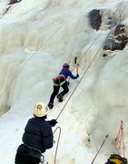 Rock Climbing Photo: Ice climbing at Ouray