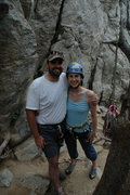 Climbing in Boulder Canyon with my man.