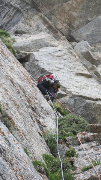 P3. Doug Haller enjoying the clean hand crack, 5.8+ until it becomes overgrown and 10+ above.