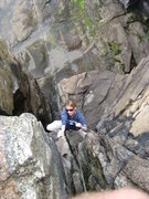 Rock Climbing Photo: Mel on Guillemot Crack