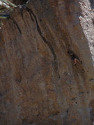 Rock Climbing Photo: Approaching the crux section on smaller 2 and 3 fi...