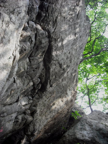 Rock Climbing Photo: The right blank side is the route. (You can see mo...