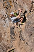 Rock Climbing Photo: The Beist surveying the scene above the crux. June...