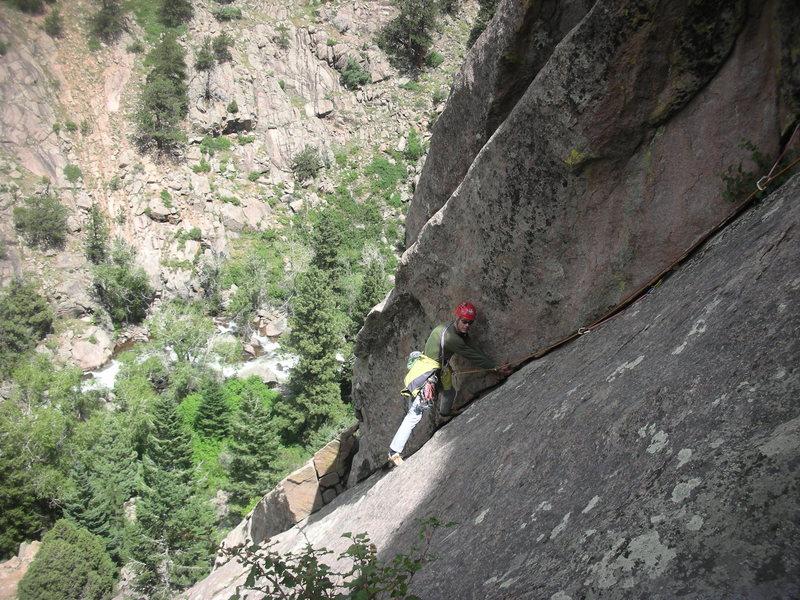 Rock Climbing Photo: Steve on 5.6 Cruiser.