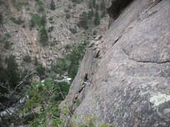 Rock Climbing Photo: Route is below large, gaping, thick flake.