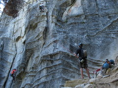 Rock Climbing Photo: Surrealistic Pillar direct on the left 5.10B and S...