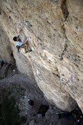 Rock Climbing Photo: Stefan on the jug swinging fun before the crux of ...