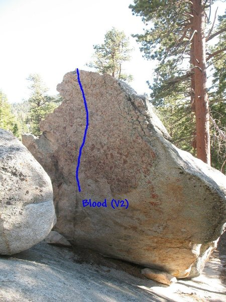 Rock Climbing Photo: Blood (V2), Tramway