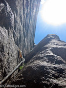 Rock Climbing Photo: Greg Hartman leading the second pitch, this should...
