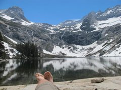 Rock Climbing Photo: we also enjoyed a hike to Hamilton Lake and a bivy...