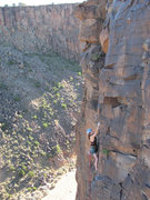 Rock Climbing Photo: Amy near the top of Post Moderate. Photo by Aaron ...
