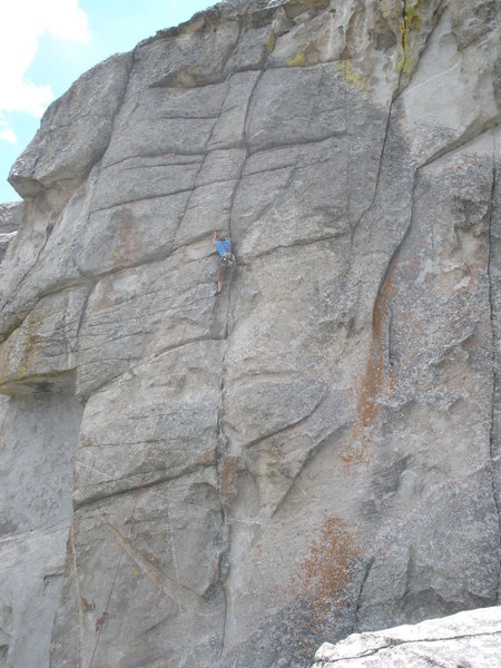 Rock Climbing Photo: A good look at most of the route