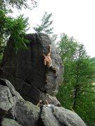 Rock Climbing Photo: Happy Go Highball, June 2010, photo: Remo.