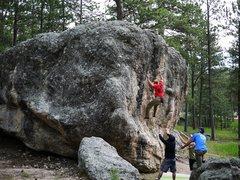 Rock Climbing Photo: Onto the small crimps.  Photo Matt.