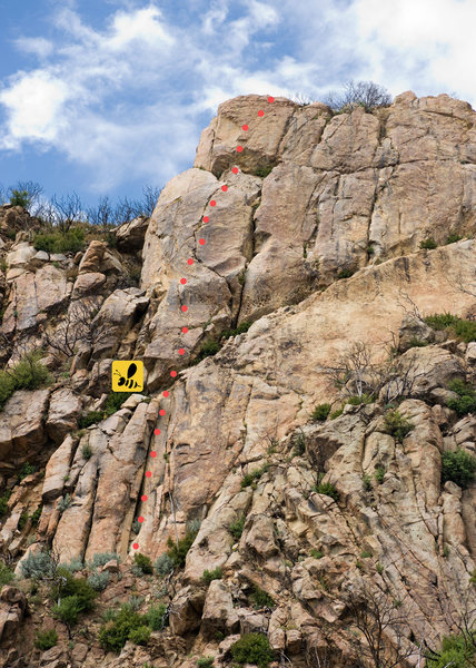 Rock Climbing Photo: Slacker, Upper Gibraltar