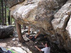 Rock Climbing Photo: Matt, on the Cheat.