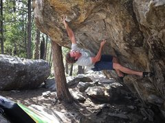 Rock Climbing Photo: Jay with his harder-than-it-needs-to-be-but-cool-l...