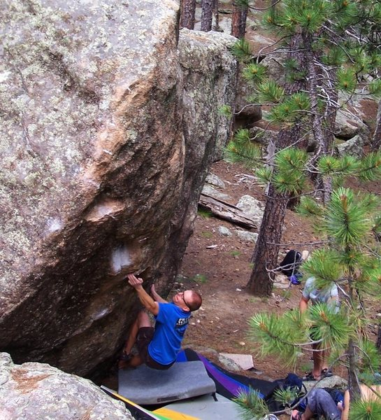 Rock Climbing Photo: Trying Torso Fritter.  This one is hard!  Will hav...