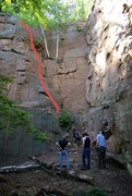 Rock Climbing Photo: Like other area routes it's bolted for sport and t...