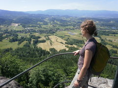 Rock Climbing Photo: The view from the cross