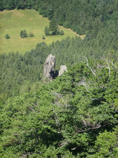 Rock Climbing Photo: Looking down at it from the Cross