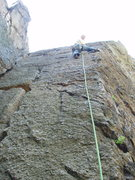 Rock Climbing Photo: Really solid, featured rock... very nice!