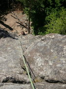 Rock Climbing Photo: Looking down the route...