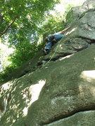 Rock Climbing Photo: the brief crux