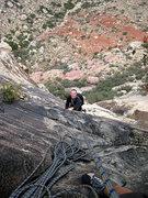 Rock Climbing Photo: Jascha on P2