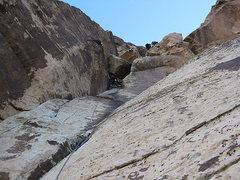 Rock Climbing Photo: chockstone pitch