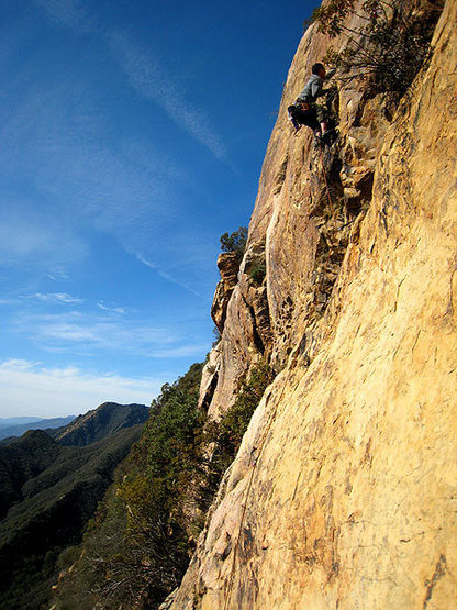 Rock Climbing Photo: Dave series 5: on easier terrain